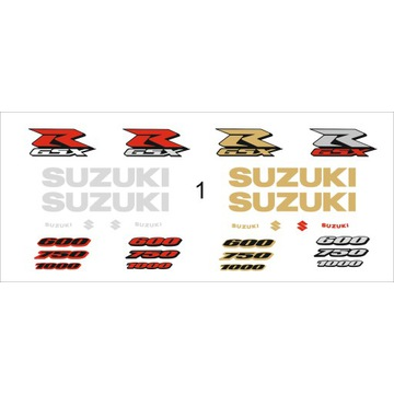 Naklejki Suzuki Gsxr Gsx R 600 750 1000 K4 K5 K6 7