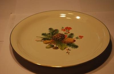 ROSENTHAL 3 talerze z motywem lesnym