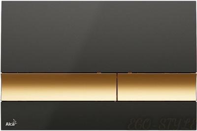 AlcaPLAST Tlačidlo WC black/gold M1728-5 DOLPHIN