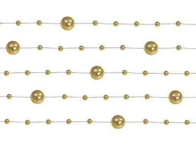 GARLAND - KORÁLKY -- 5 ks *135 cm - gold