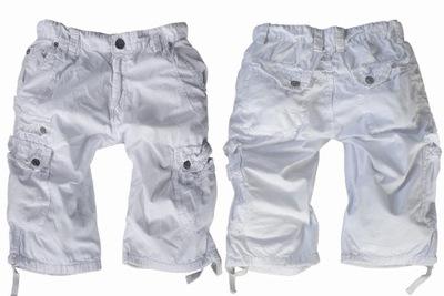 OUDISHI #890 - szorty bojówki - BIAŁE - rozmiar 30