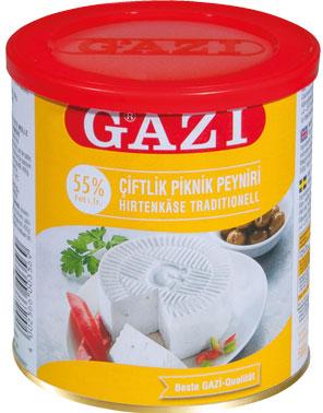 Белый сыр из коровьего молока Gazi как фета 500 г