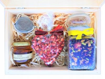 комплект с подарками чай Мед Шоколад Zaparzacz