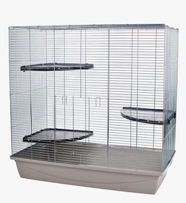 клетка XXL 100см для крысы грызунов полки пластик