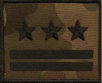 DYSTYNKCJE воинские звания WZ 93 обхват . черная липучка