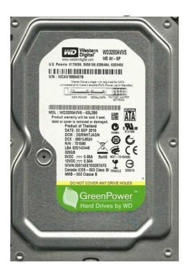 Dysk Western Digital WD 320GB 3,5'' Green cichy