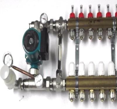 Predné podłogówki 3 čerpadla, ventilov .600