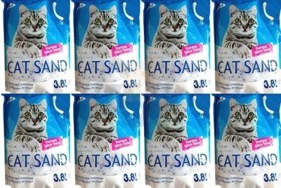 Наполнитель силиконовый Cat SAND 8x3,8l (11 ,6кг)