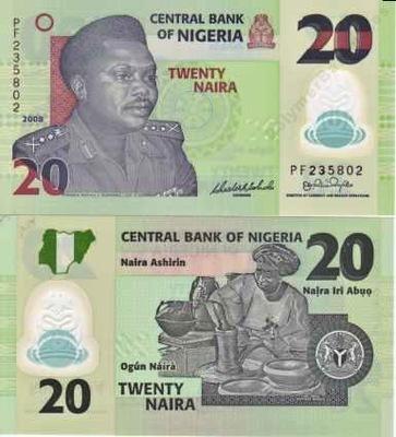 ~ Нигерия 20 Наира 2008 Instagram UNC 6 цифры instagram !!