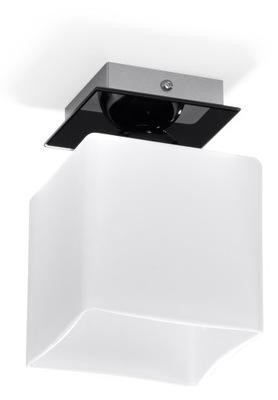 Svietidlá stropné svietidlá - Plafon PIAZZA 1 biała kostka lampa czarna SOLLUX