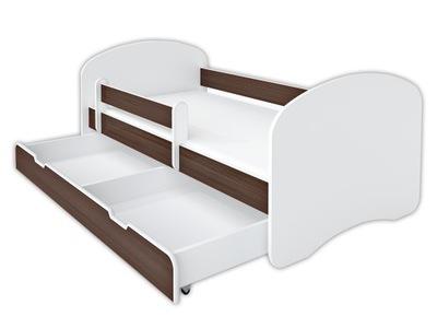 Кроватка BellaLuni 140/70 венге, матрас, выдвижной ящик