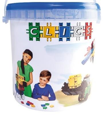 Klik-klak stavebnica pre deti - CLICS PL Bundles Belgicko CD007 DRUM 10in1 NEW HIT