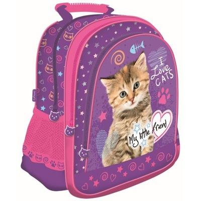 Školské tašky - školský Batoh pre dievčatá St. Majewski mačiatko