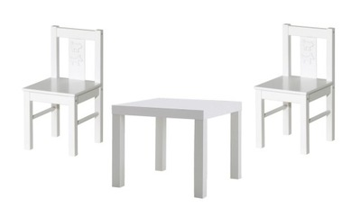 IKEA SET STÔL+2 x KRITTER detské STOLIČKY Mammut