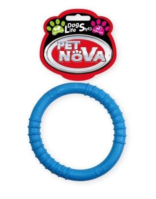 ПЭТ Nova игрушка для собак КОЛЬЦО тонкий синий. 9 ,5 см