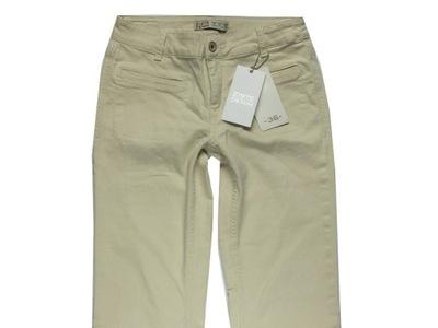 # ZARA BASIC * 36/36 * NOWE damskie  spodnie ecri