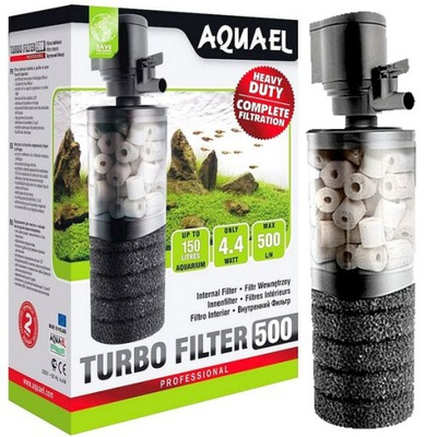 Турбо фильтр 500 Aquael керамика +губка АКВА ??? 150L