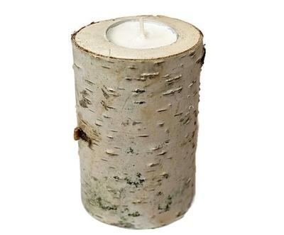 Подсвечник Береза tealight пластыри деревянные