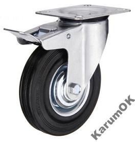 Fúrik, koleso - Koleso kolesa brzdilo 160 mm kovové gumové vozíky