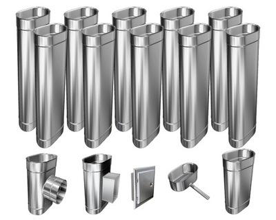 Kotol - 1mm CHIMNEY INSERT 12m 120x210 Tepelne odolný HIT