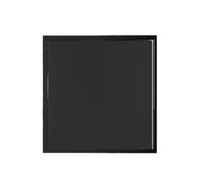 STOJAN SKLO KOZA RÚRA 70x70 BLACK PROST