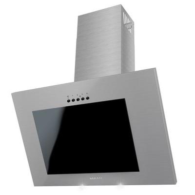 вытяжка Кухня Дымоходная VERTICAL LED стекло Inox 60