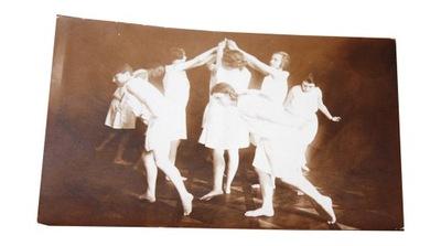 ОТКРЫТКА ЛЬВОВ, БАЛЕТ КЛАСС Школа МУЗЫКАЛЬНАЯ 1929