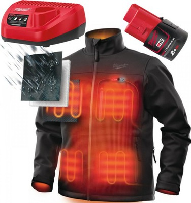 куртка с ПОДОГРЕВОМ M12 HJ BL4 (Л ) Милуоки