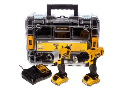 Elektrický skrutkovač - Skrutkovač DEWALT DCD710 + skrutkovač DCK211D2 DCF815