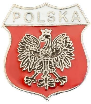Pin застежка wpinka Марку польский  диск с Орлом