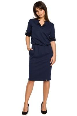 05b085ecc F056 DŁUGA sukienka MAXI dekolt WODA 6834330421 - Allegro.pl