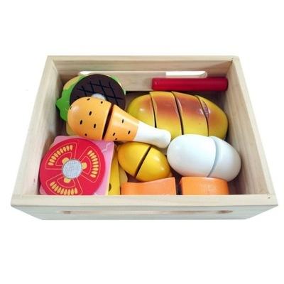 Príslušenstvo pre-deti - Drevený potravín box rezanie doKUCHNI