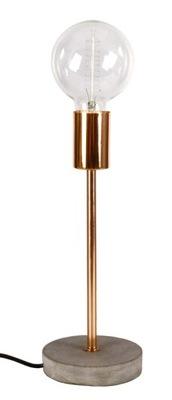 Stolové lampy - Svietidlá - Svietidlá - Stolové lampy - LAMPA STOŁOWA BIURKOWA BEZ KLOSZA MIEDŹ BETON H-31