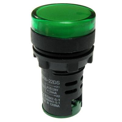 indikátor LED zelená 24V AC/DC AD16-22 pripojí