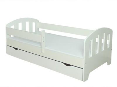Posteľ so zásuvkou a matrace 160x80 biela farba