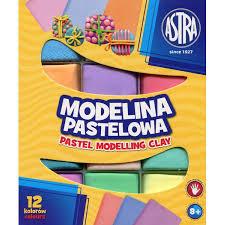Modelina пастельная Astra 12 цвета