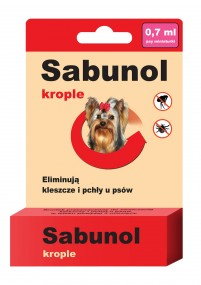 Сабунола капли блох/клещей Ноль ,7ml - собаки для 5 кг