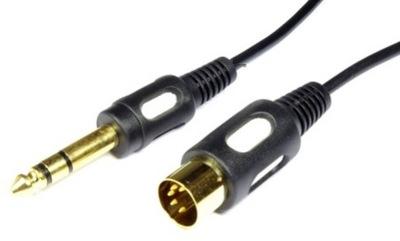 Kabel wt DIN 5p - duży Jack 6,3 stereo 1,5m (4510)