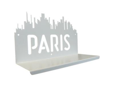 полка Стены металлическая, PARIS белая