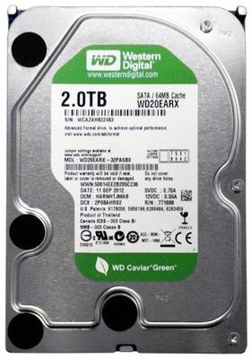 DYSK TWARDY WD 2TB 64MB SATA 3 7200RPM 2000GB
