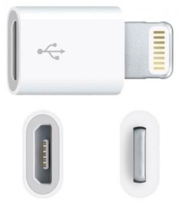Переход адаптер micro USB lightning iphone(4117)