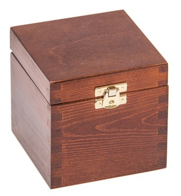 Organizér, kufrík, skrinka - PUDEŁKO 11x11x10,5cm szkatułka DECOUPAGE ORZECH
