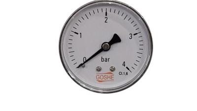 Manometer 4 bary GOSHE fi 63 mm spätný tlakomer