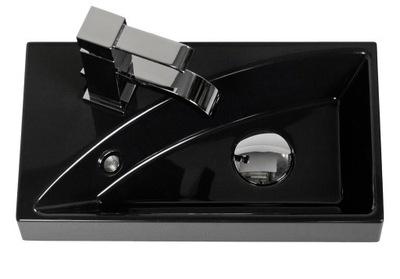 Umývadlo Obdĺžnikové umývadlo 40x22cm RUTH 400P čierne