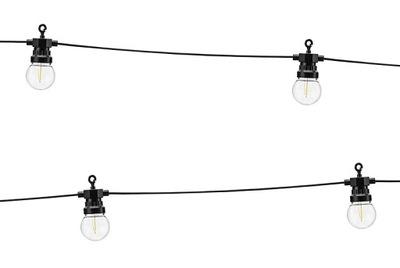 LED svietidlá GIRLANDA - Lampki dekoracyjne na taras balkon żółta ciepła