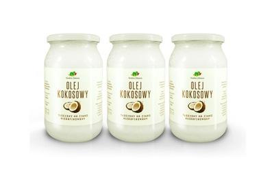 кокосовое масло 3x 900ml нерафинированный    экстракласс