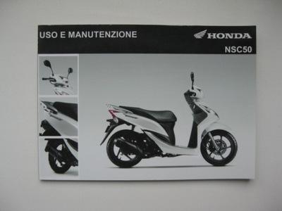 HONDA VISION WLOSKA ИНСТРУКЦИЯ HONDA NSC50 ITALIA