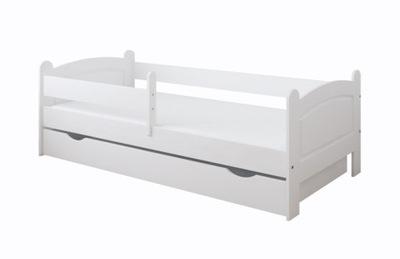 Posteľ so zásuvkou a matrac 180x80 biela farba