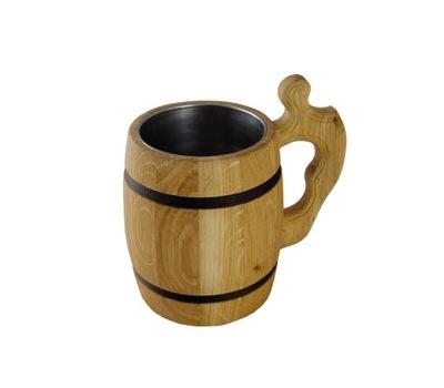 кружка КРУЖКИ деревянные с металлической вставкой на пиво