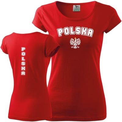 Damska Koszulka Kibica Polski - Koszulka POLSKA